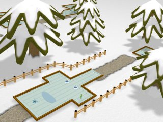 Snow Course Render from Mini-Golf Deluxe